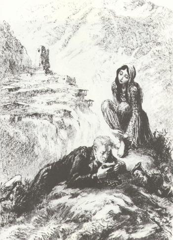 Краткое содержание А. С. Пушкин «Кавказский пленник»